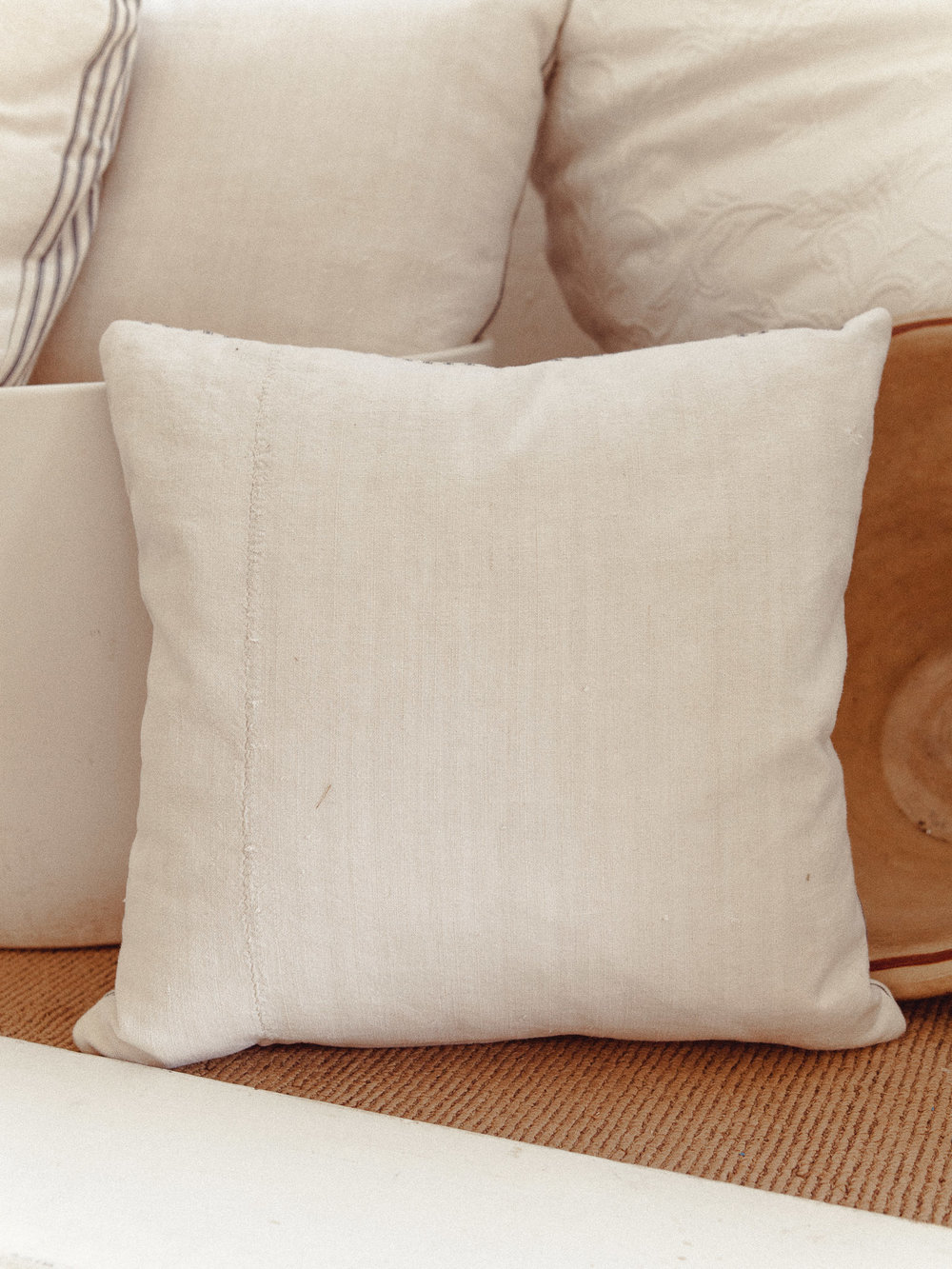 French Homespun Linen Pillows $125 -