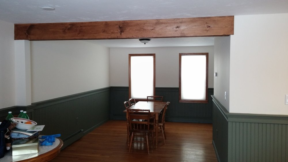 Wall Removed and New Beam Installation - Millbury, MA