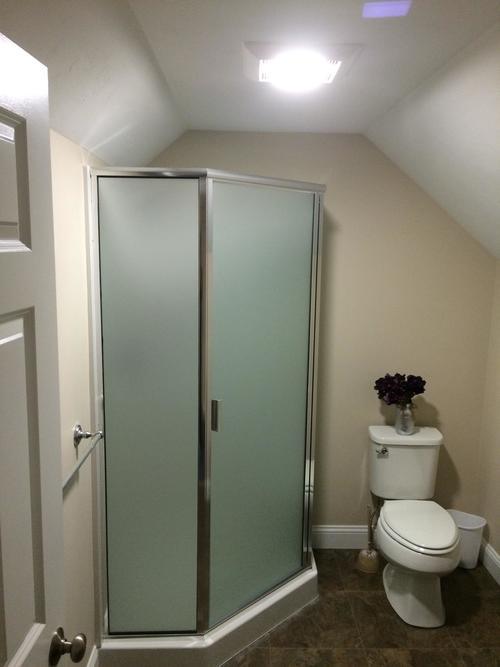 attic bathroom after