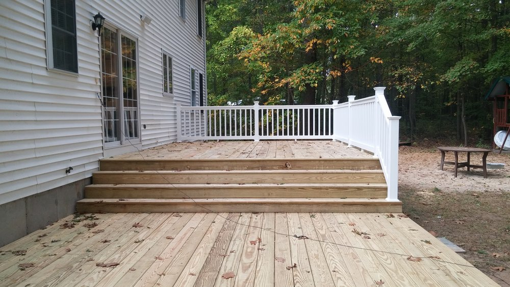 Double Deck Composite and Pressure Treated Franklin MA
