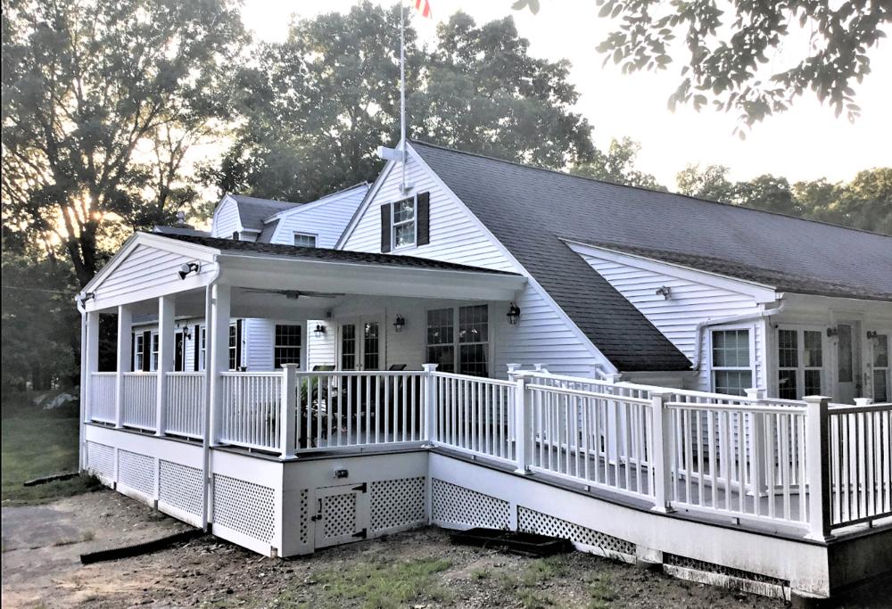 VA Porch/Deck w/ Portico Roof for War Veteran - Mendon MA
