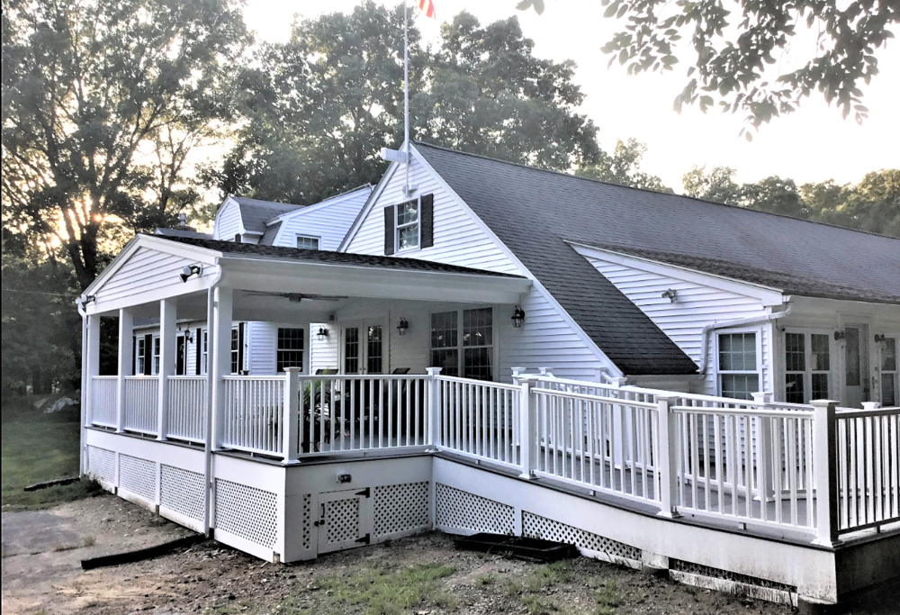 ADA, Wheelchair Accessible Porch/Deck w/ Portico Roof for War Veteran - Mendon, MA
