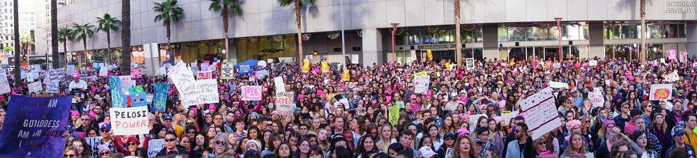 Womens March LA pano