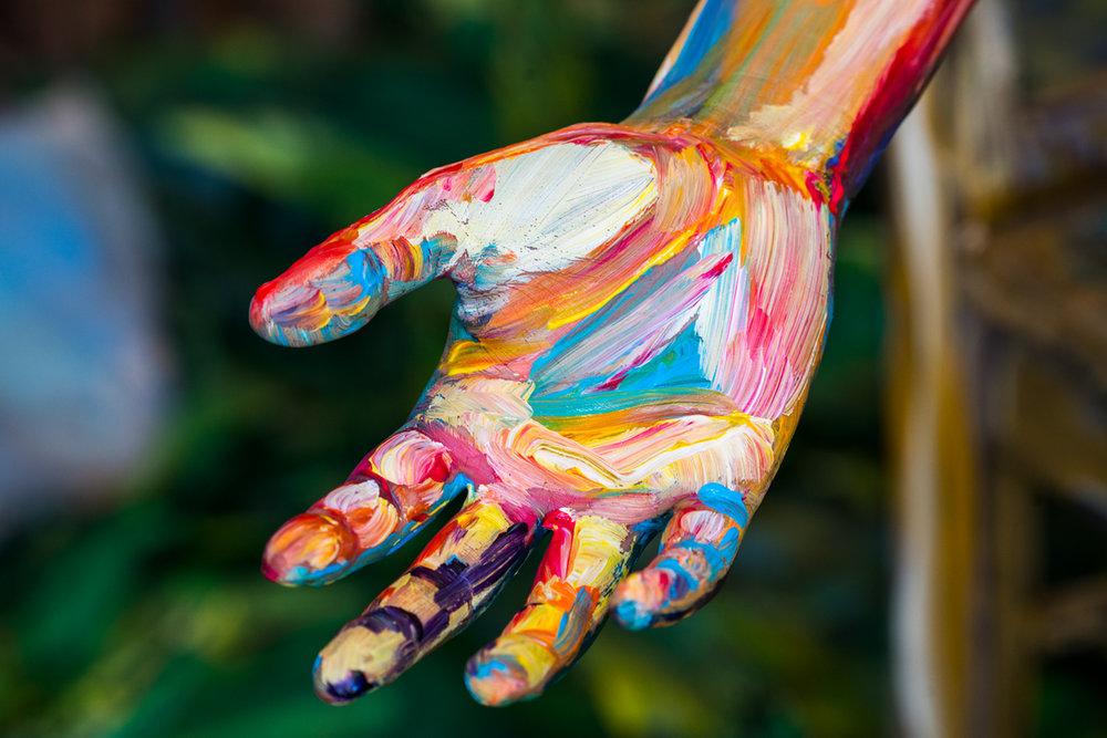 Sunu Reaches Out Her Hand, art by @alexameadeart, photo by @jenna.carlie.jpg