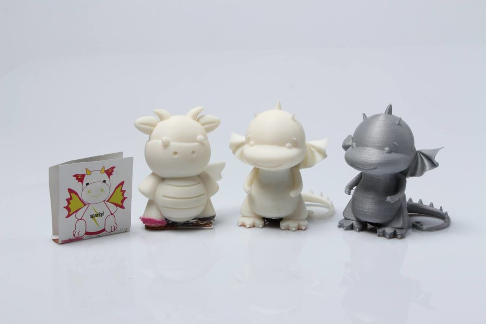 3D printed Sparkie & Resistor Rabbit