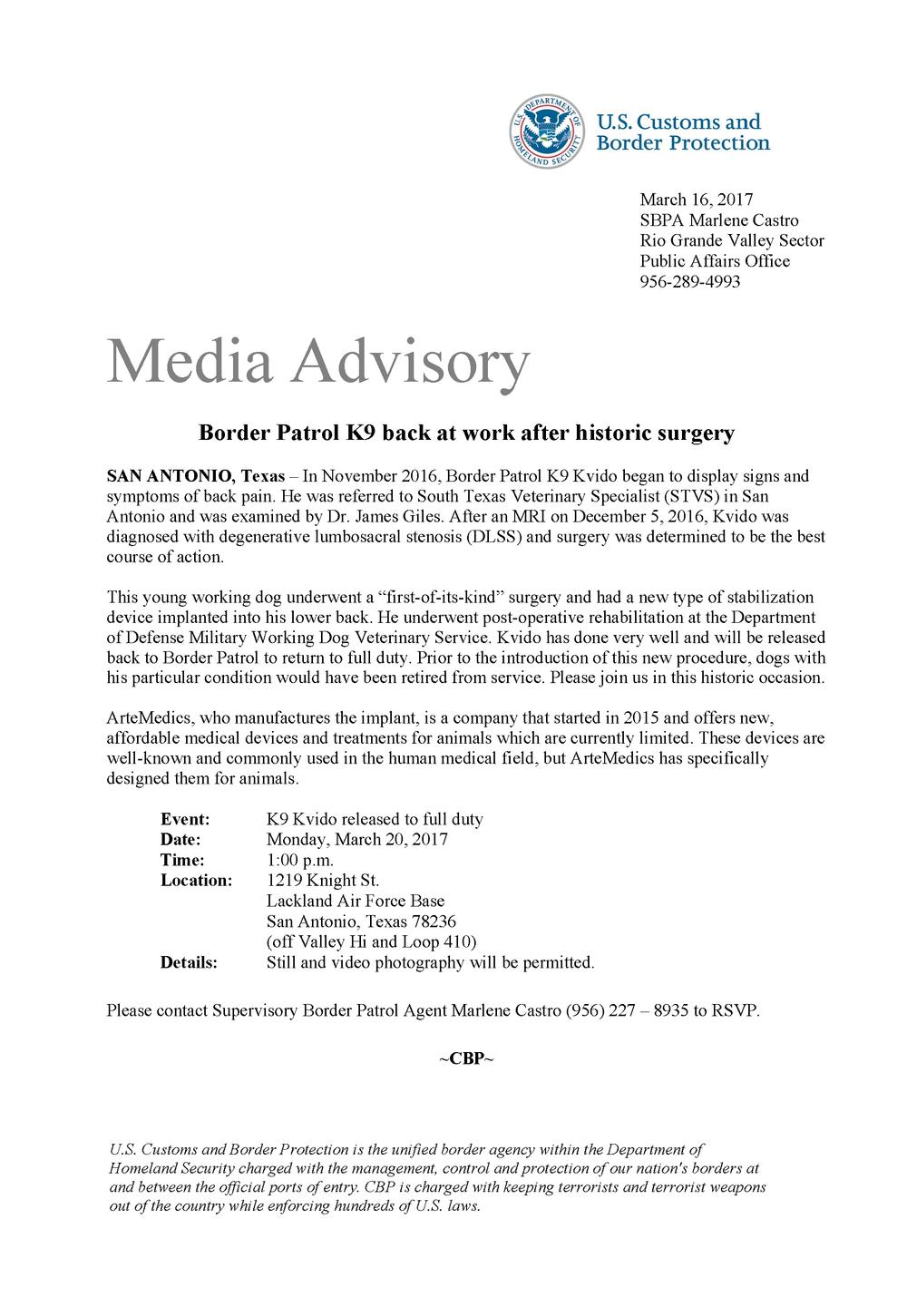 Kvido Press Advisory