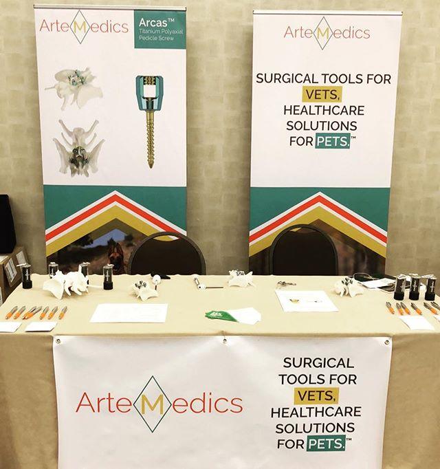 Come check out the inaugural ArteMedics booth at Veterinary Orthopedic Society! #artemedics #vos2018