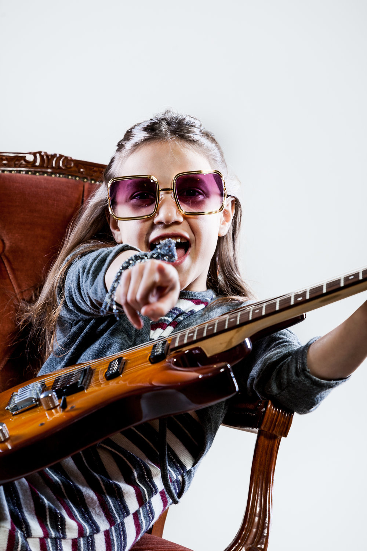 Rockstar Guitar Child