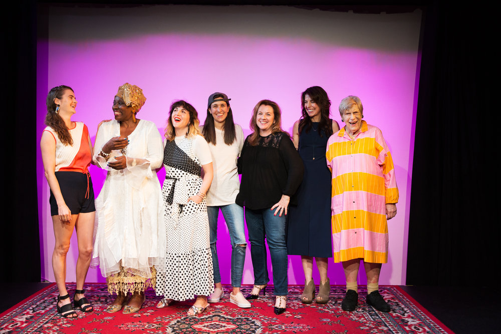 Left to right: Georgia Clark, Rhonda Hansome, Piera Gelardi, Ashley Gavin, Kathleen McKitty Harris, and Piri Halasz