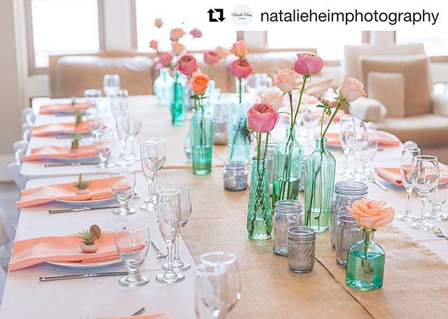 Kind of starting to dig this whole party planning/decorating thing ☝️Especially when @natalieheimphotography does such an amazing job capturing it! You have to check her out! 👌📸 #repost (@get_repost) ・・・ Loved this colorful tablescape for Sophie & George's wedding 💕