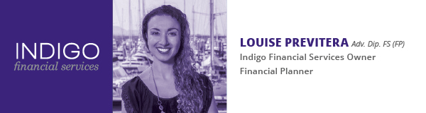 Louise Previtera Indigo Financial Services Photo & Qualification