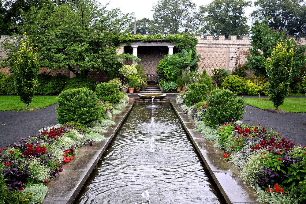 fountain walled garden