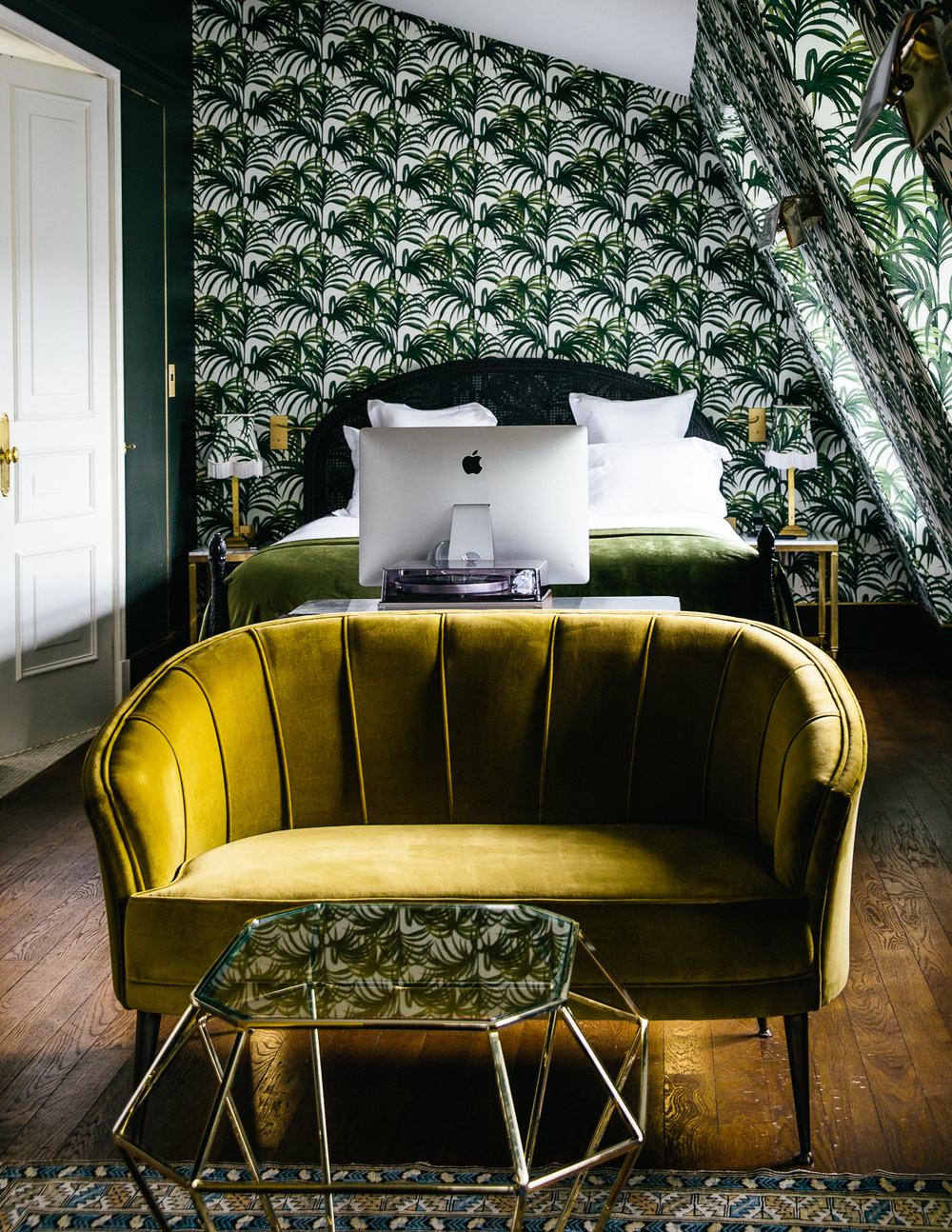 HOTEL PROVIDENCE 90 Rue Rene Boulanger, 75010 INSIDER TIP | While all rooms at the hotel are sumptuous in design and have built-in cocktail bars, it's the show-stopping penthouse suite that deserves special attention. Tropical wallpaper may transport you far beyond French borders but just head into the bathroom and peer out the window for a view firmly rooted in Paris: Sacre Coeur.