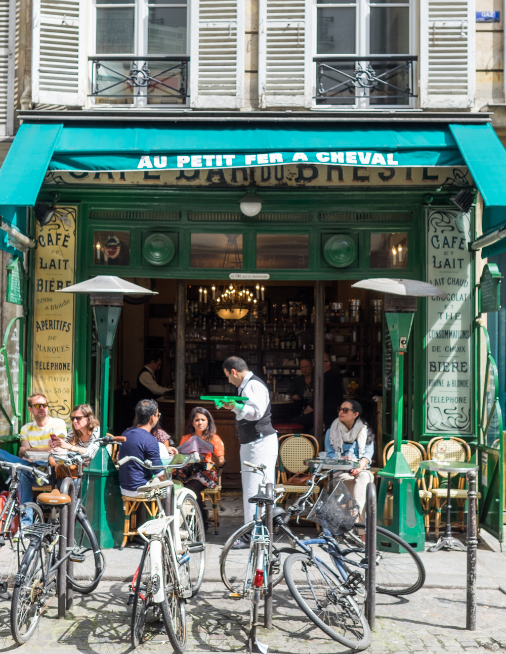 AU PETIT FER A CHEVAL  30 rue Vieille du Temple, 75004   INSIDER TIP  | Cafe life. The Marais is full of interesting characters and this is a great place to park yourself and people watch.