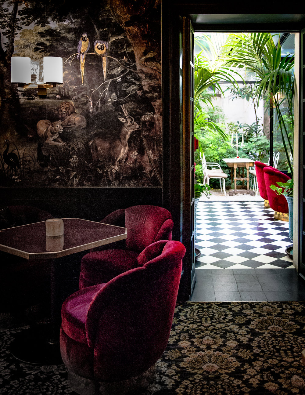 HOTEL PARTICULIER MONTMARTRE   23 Avenue Junot, Pavillon D, 75018   INSIDER TIP  | David Lynchian in vibe and secluded from the motion of the city, you'd hardly know that Le Très Particulier Montmartre is part of a hotel. Locals come for creative cocktails, cozy corners and an intimate setting, the perfect backdrop for drinks until the wee hours.