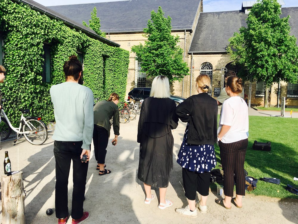 (Team Beyonce checking out their opponents boules skills at KADK)