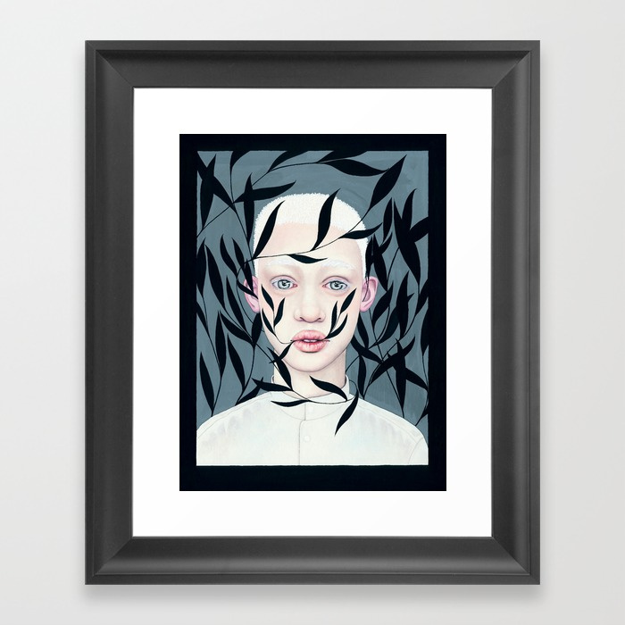 Framed Print - Albino Boy.jpeg