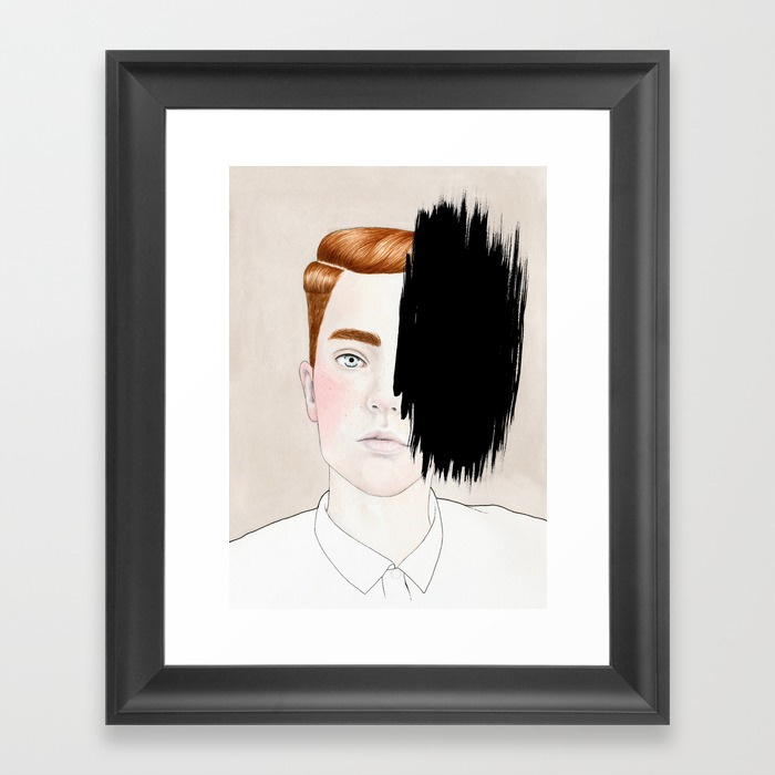 Framed Print - Hiding #3.jpeg
