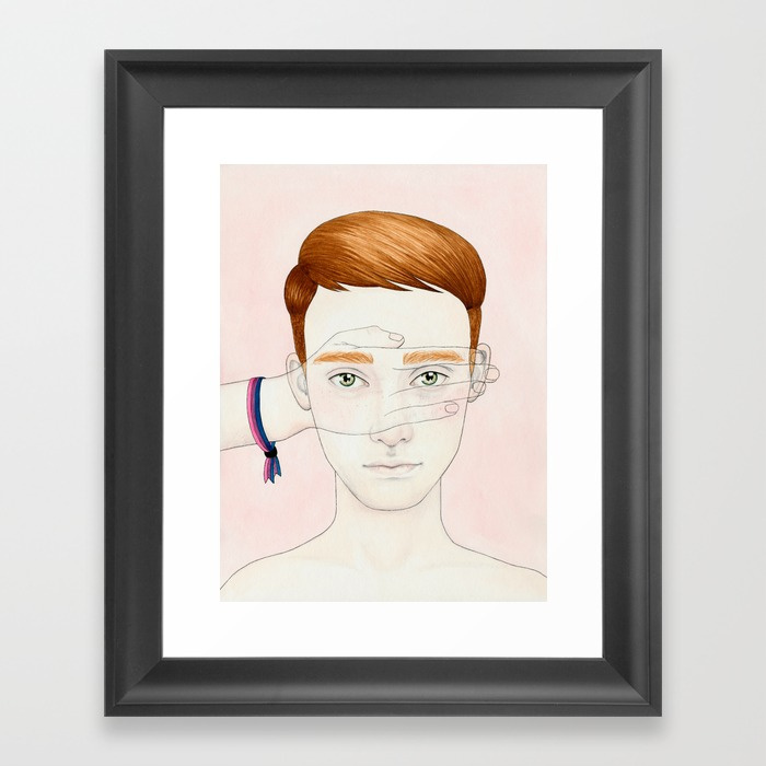 Framed Print - Bisexual Invisibility #2.jpeg