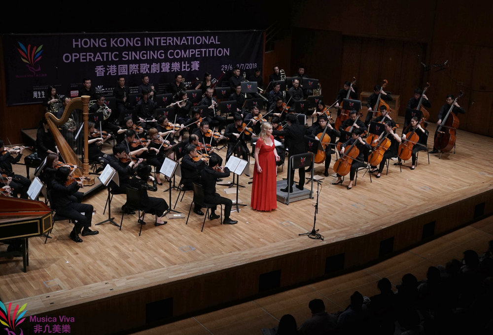 Gala Concert for the final of the Hong Kong International Operatic Singing Competition. Jury chaired by Dame Kiri Te Kanawa.