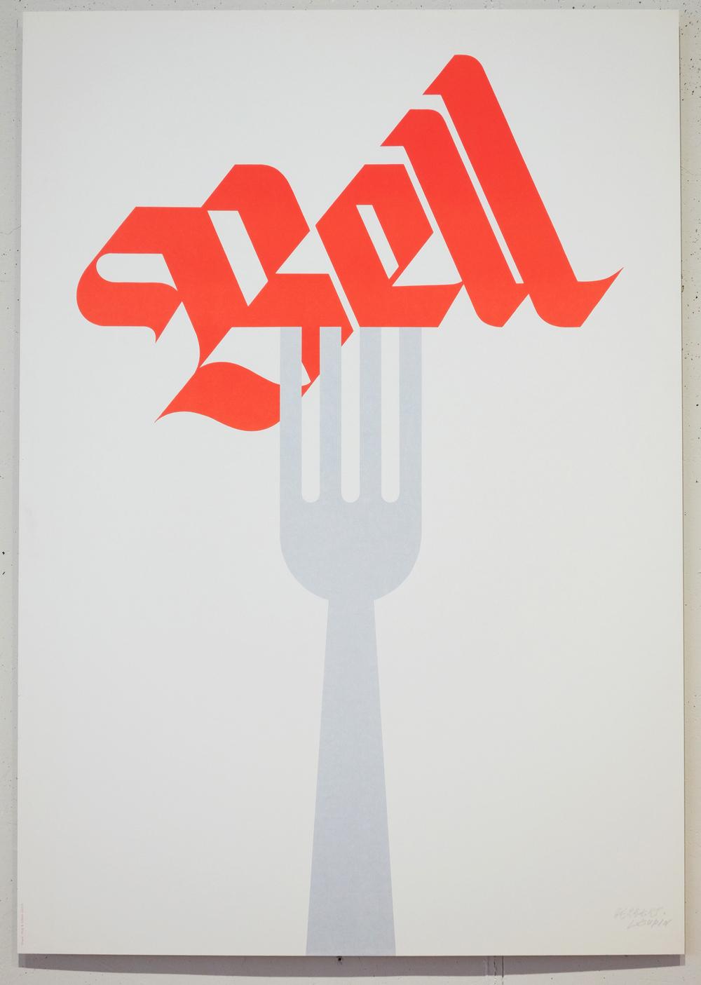 Herbert Leupin Bell Fork Poster Design