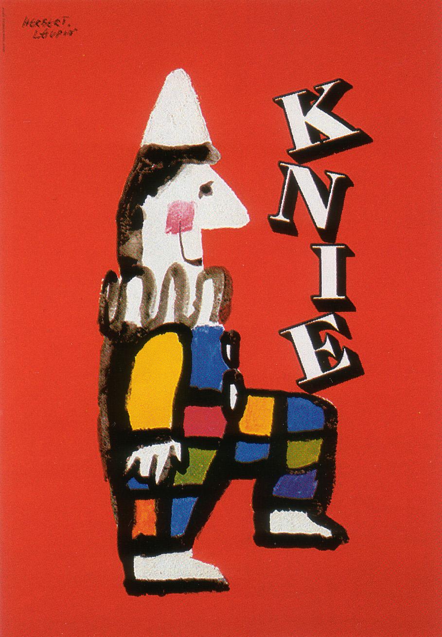 Herbert Leupin Knie Circus Clown Poster