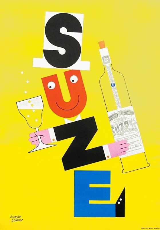 Herbert Leupin Suze Poster Design