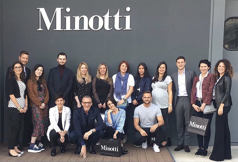 Visit to the Minotti showroom Italy