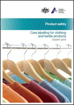 Care labelling for clothing and textile products