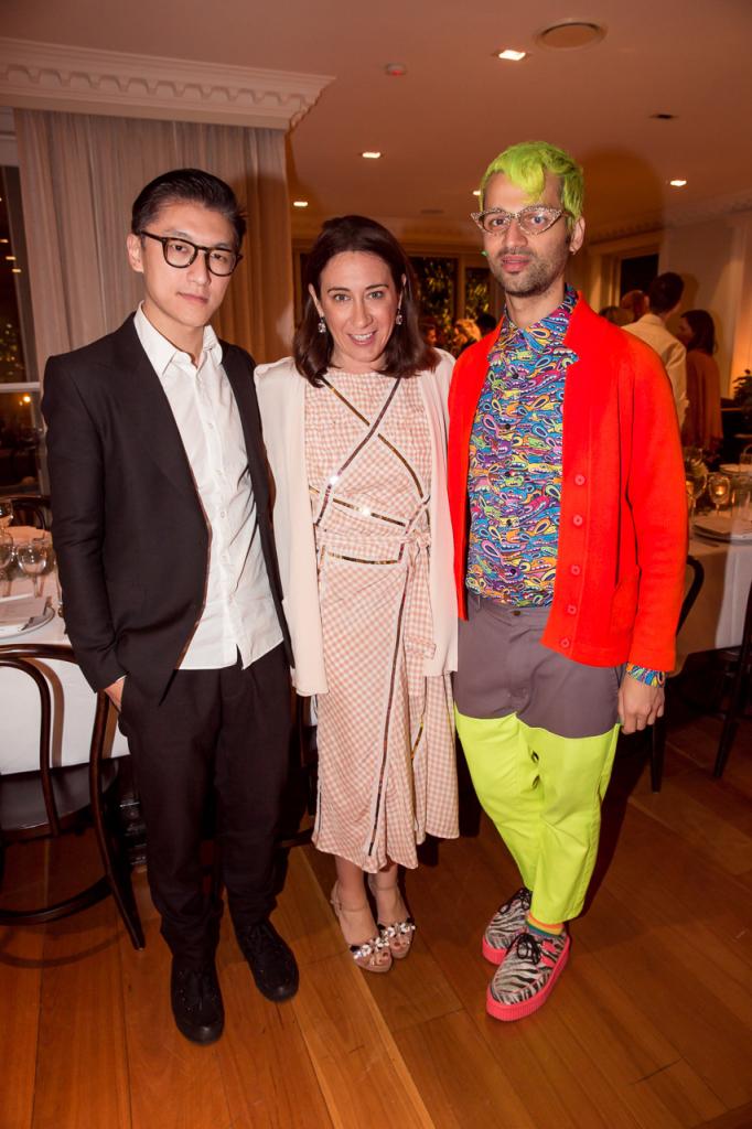 Haryono Setiadi, Vogue Australia Editor Edwina McCann and designer Gary Bigeni.