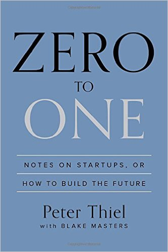 Zero to One by Peter Thiel and Blake Masters  - Rating: 10/10Completed: 29/11/2016Key Takeaway(s): If you can create a monopoly with your new product, you're going to succeed. Founding teams are fundamentally important when starting a startup, perhaps the most important factor. Going for moon shots is easier than going for smaller goals.