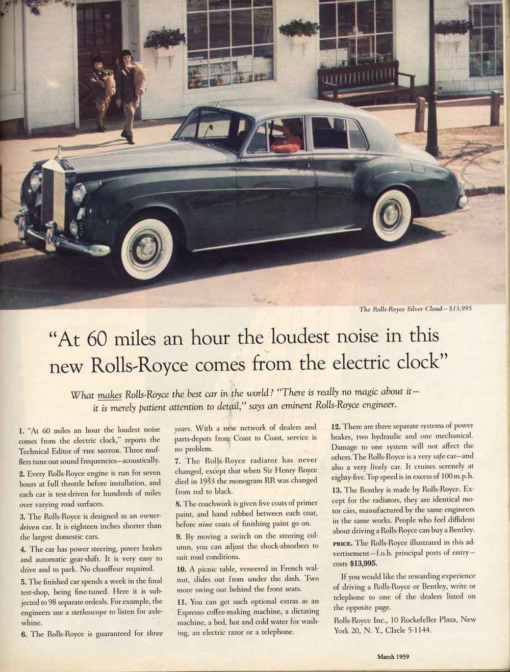 'Before I wrote this — the most famous of all automobile ads — I did my homework.'