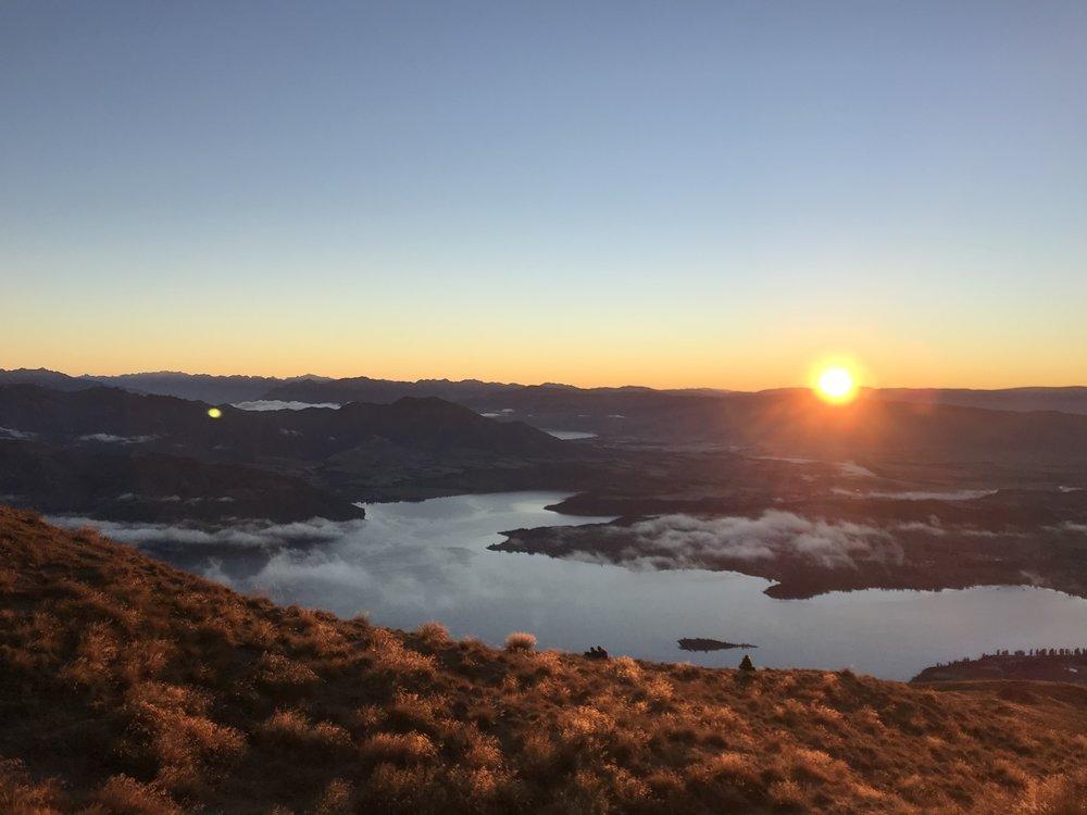 Sunrise at Roy's Peak, Wanaka.