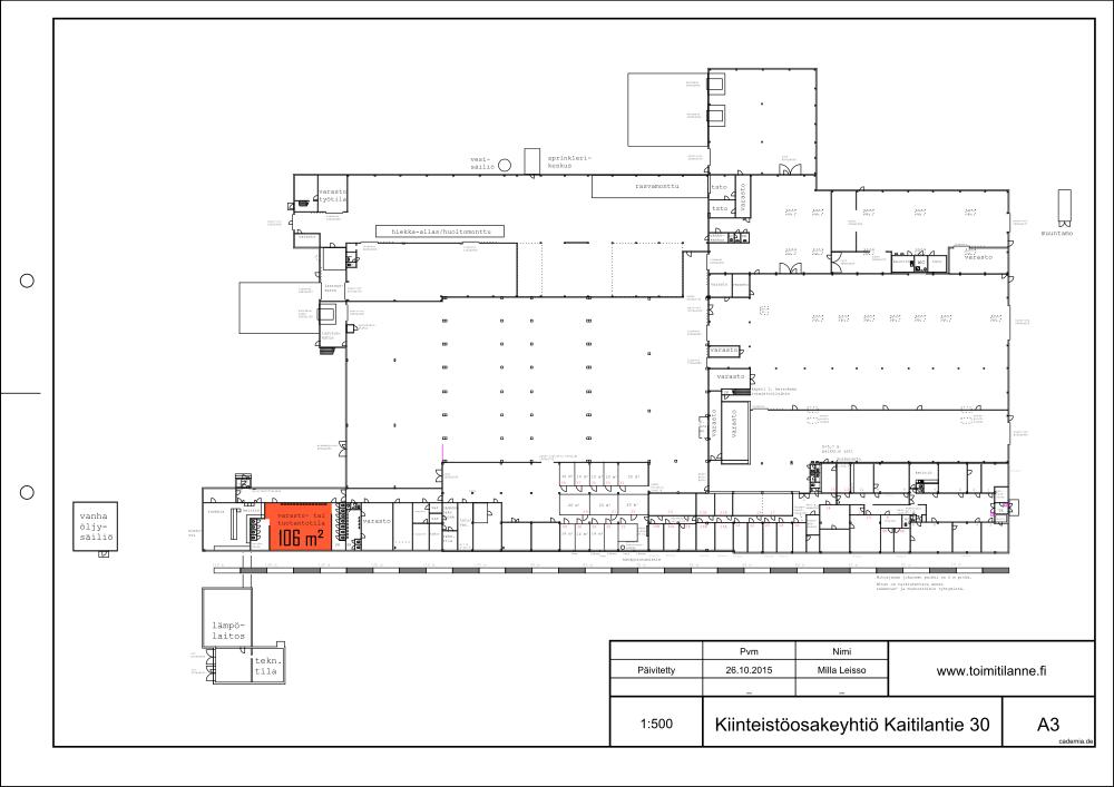 Toimitilanne Suomi, Lahden seutu - Orimattila, Kaitilantie 30. Varastotila 106 m².