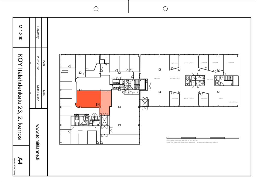 Toimitilanne Suomi, Helsinki - Lauttasaari, Itälahdenkatu 23. Varastotila 67 m²