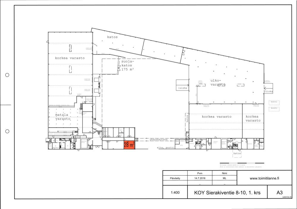 Copy of Toimitilanne Suomi, Espoo - Kauklahti, Sierakiventie 8-10, Toimistotila 28 m²