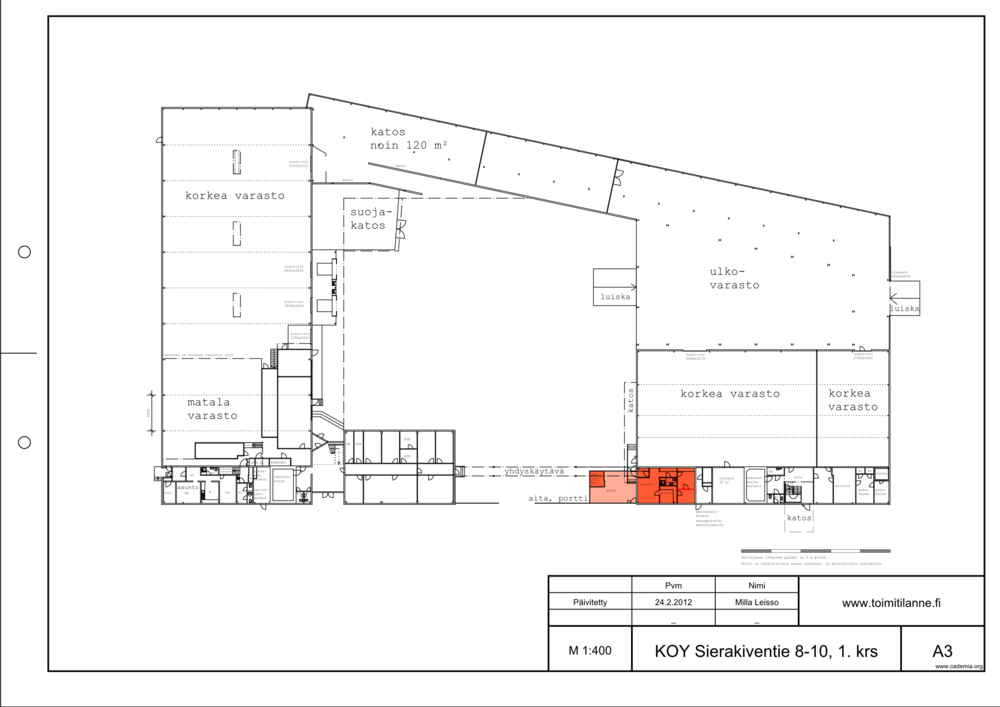 Toimitilanne Suomi, Espoo - Kauklahti, Sierakiventie 8-10, Asunto 57 m²