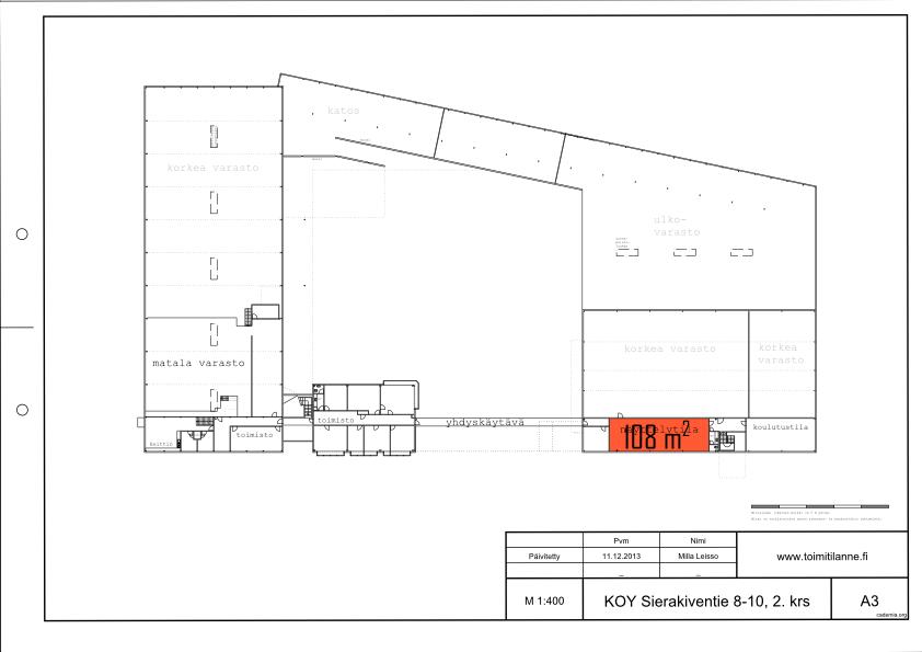 Toimitilanne Suomi, Espoo - Kauklahti, Sierakiventie 8-10, Näyttely- tai toimistotila 108 m²