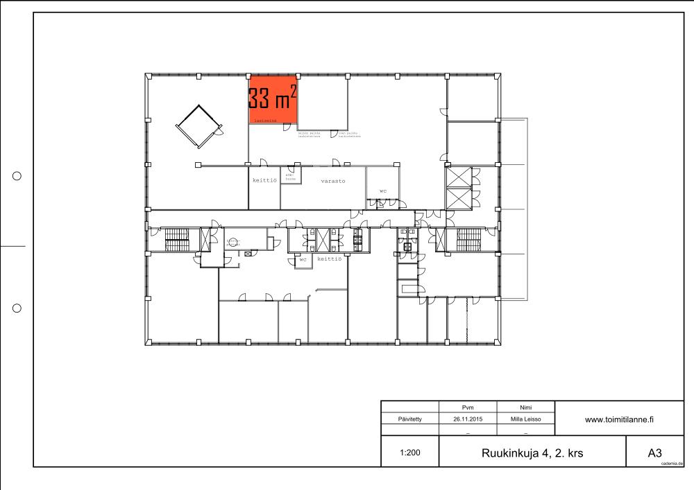 Toimitilanne Suomi, Espoo - Kiviruukki, Ruukinkuja 4, Toimistohuone 33 m²