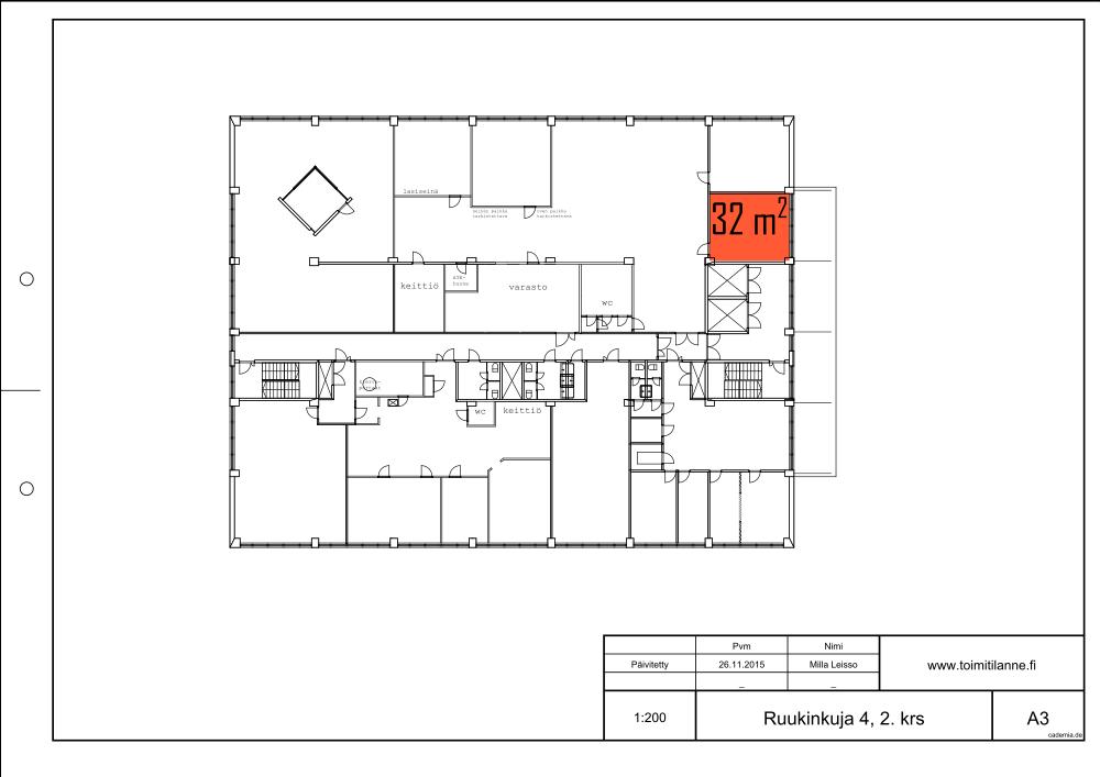 Toimitilanne Suomi, Espoo - Kiviruukki, Ruukinkuja 4, Toimistohuone 32 m²