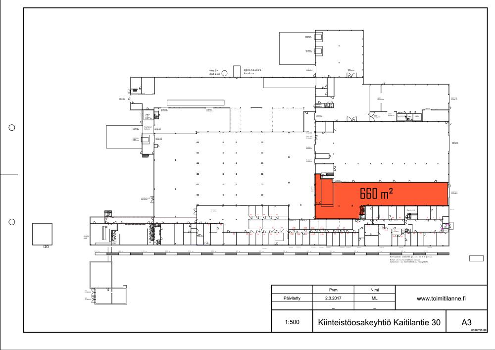 Toimitilanne Suomi, Lahden seutu - Orimattila, Kaitilantie 30. Tuotanto- tai varastotila 660 m².