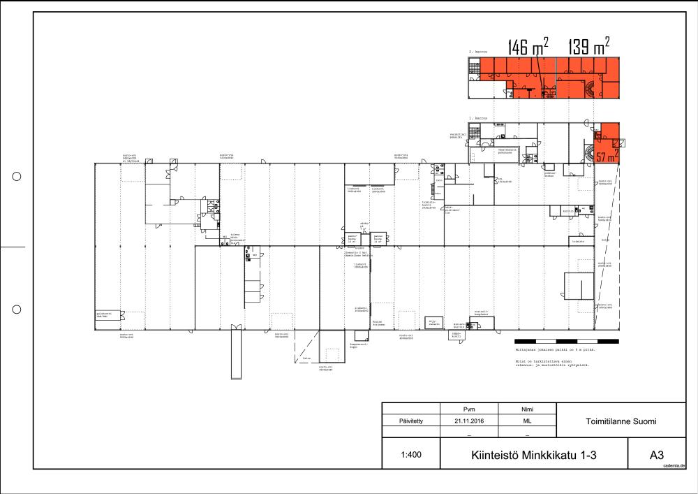 Minkkikatu 1-3. Toimistotila 146-342 m².
