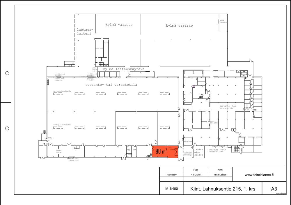 Toimitilanne Suomi, Nurmijärvi - Klaukkala, Lahnuksentie 215. Tuotanto- tai varastotila 80 m².
