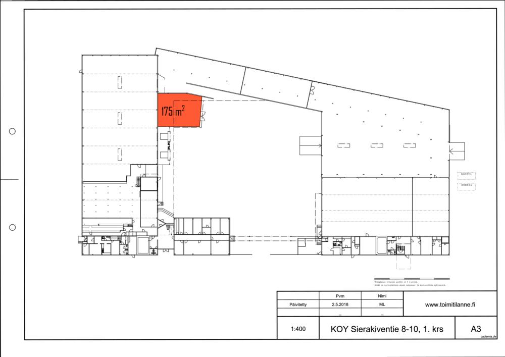 Toimitilanne Suomi, Espoo - Kauklahti, Sierakiventie 8-10, Ulkovarastotila 175 m²