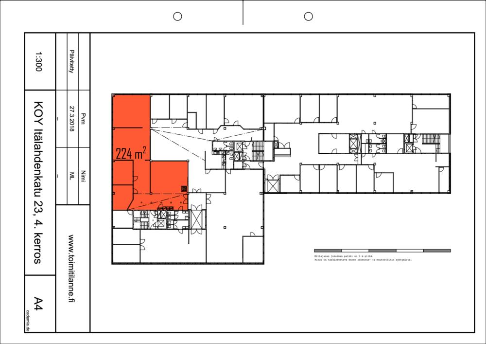 Toimitilanne Suomi, Helsinki - Lauttasaari, Itälahdenkatu 23, Toimistotila 224 m².