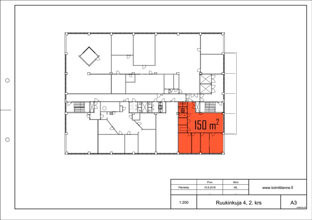Toimitilanne Suomi, Espoo - Kiviruukki, Ruukinkuja 4, Toimistotila 150 m².