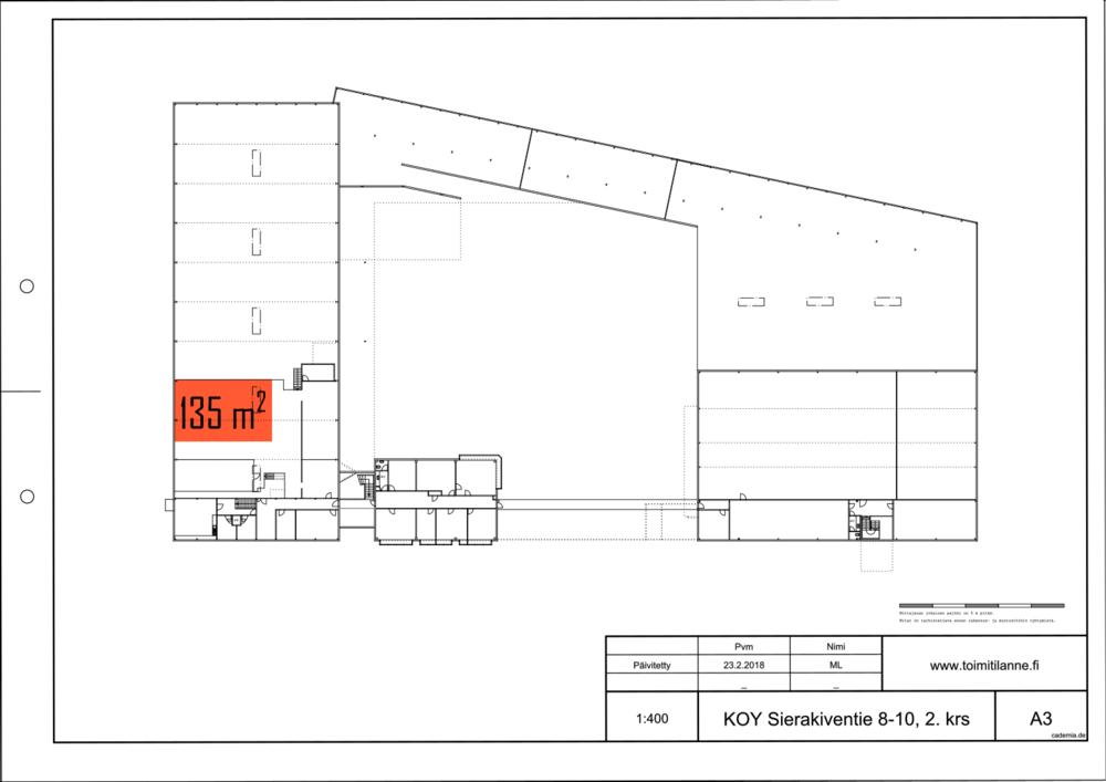 Toimitilanne Suomi, Espoo - Kauklahti, Sierakiventie 8-10, Varastotila 135 m²