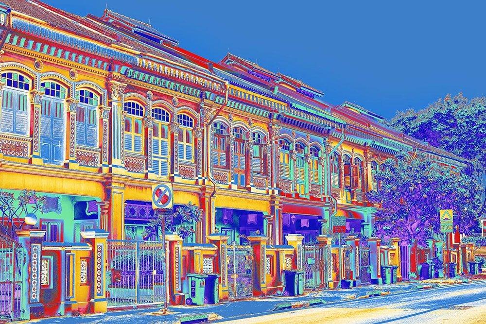 Linda-Preece-Singapore-Shophouses-Koon Seng Rd-Joo Chiat-Blue-N.jpg