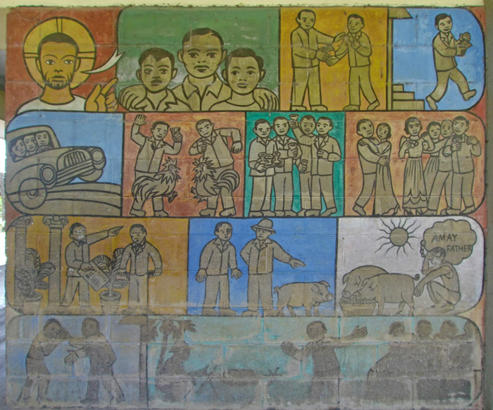 Filipinized 'Prodigal Son' artwork at the Church of the Angry Christ