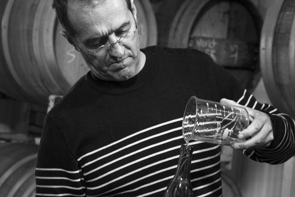 Louis Barruol - winemaking, cellar, Riesling